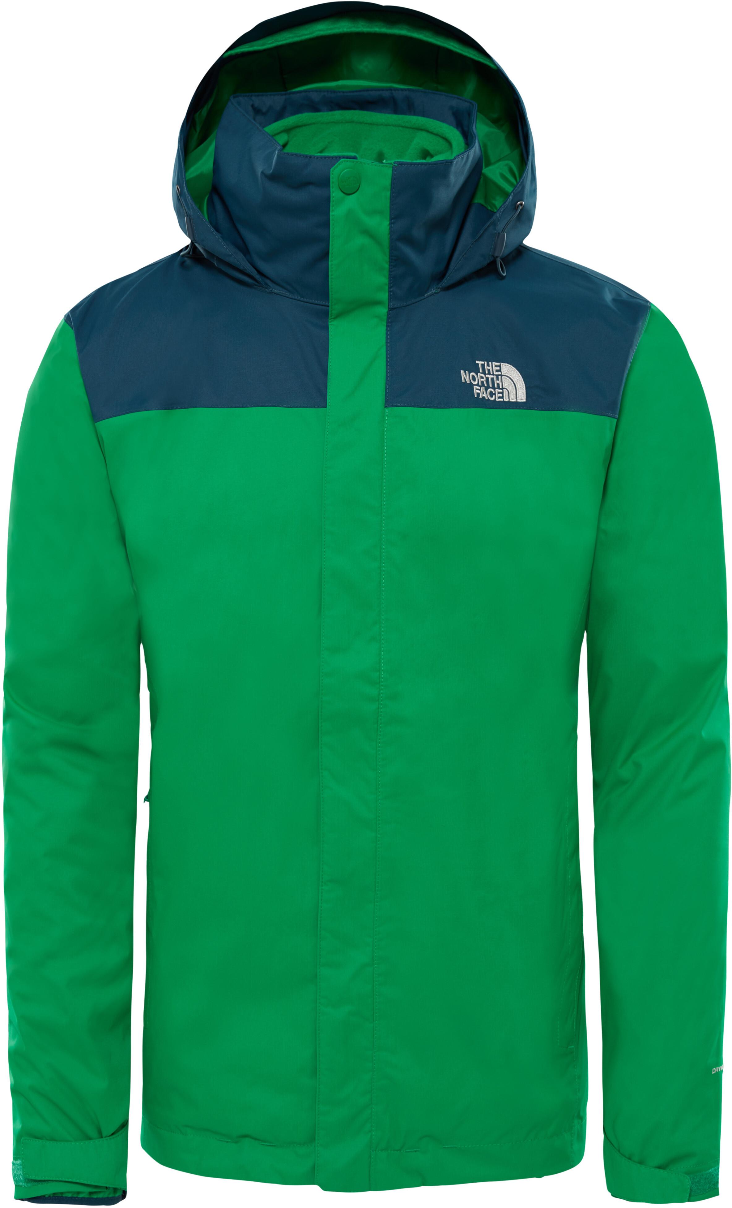 84c1728487 The North Face Evolve II Triclimate Jacket Herren primary green/kodiak blue